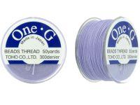 Nici nylonowe Toho One-G Light Lavender - szpulka