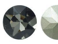 Szklany kamień fasetowany okrągły Silver Night F 27mm - 1 sztuka