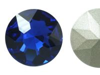 Szklany kamień fasetowany okrągły Cobalt F 27mm - 1 sztuka
