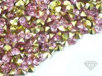 Diamenciki akrylowe jasnoróżowo-złote 3x2mm - 6 g