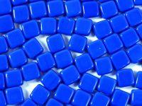 Squares 6mm Opaque Blue - 20 sztuk