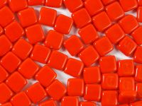 Squares 6mm Opaque Light Red - 20 sztuk
