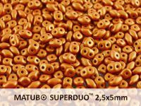 SuperDuo 2.5x5mm Gold Shine Brownish Red - 100 g