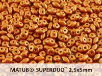 SuperDuo 2.5x5mm Gold Shine Brownish Red - 100 g