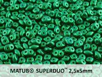 SuperDuo 2.5x5mm Gold Shine Dark Green - 10 g