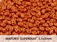 SuperDuo 2.5x5mm Gold Shine Brick Red - 100 g