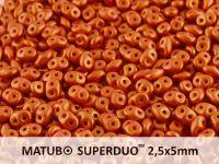 SuperDuo 2.5x5mm Gold Shine Brick Red - 10 g