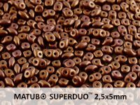 SuperDuo 2.5x5mm Gold Shine Saddle Brown - 10 g