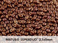 SuperDuo 2.5x5mm Gold Shine Saddle Brown - 10 g