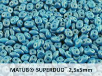 SuperDuo 2.5x5mm Gold Shine Cornflower Blue - 10 g