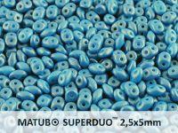 SuperDuo 2.5x5mm Gold Shine Cornflower Blue - 10 g