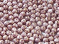 Round Beads Alabaster Purple Terracotta 4 mm - opakowanie