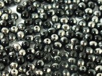 Round Beads Chrome 1/2 Coated Jet 4 mm - opakowanie