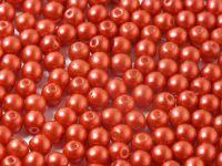 Round Beads Chalk Lava Red 4 mm - opakowanie