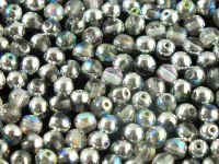 Round Beads Crystal Graphite Rainbow 4 mm - opakowanie