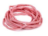 Sznurek jedwabny Habotai Dark Pink 3 mm - 110 cm