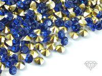 Diamenciki akrylowe kobaltowo-złote 3x2mm - 6 g