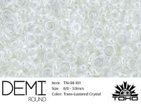 TOHO Demi Round 8o-101 Trans-Lustered Crystal - 5 g