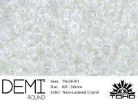 TOHO Demi Round 8o-101 Trans-Lustered Crystal - 5 g