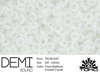 TOHO Demi Round 8o-161F Trans-Rainbow Frosted Crystal - 5 g