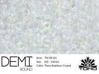 TOHO Demi Round 8o-161 Trans-Rainbow Crystal - 5 g