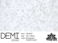 TOHO Demi Round 8o-1F Transparent-Frosted Crystal - 5 g