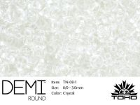 TOHO Demi Round 8o-1 Transparent Crystal - 5 g