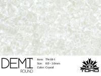 TOHO Demi Round 8o-1 Transparent Crystal - 5 g