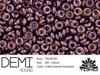 TOHO Demi Round 8o-201 Gold-Lustered Amethyst - 5 g