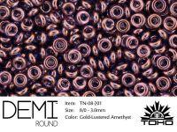 TOHO Demi Round 8o-201 Gold-Lustered Amethyst - 5 g