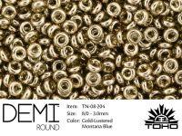 TOHO Demi Round 8o-204 Gold-Lustered Montana Blue - 5 g