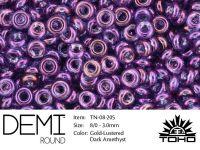 TOHO Demi Round 8o-205 Gold-Lustered Dark Amethyst - 5 g