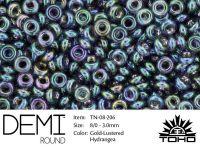 TOHO Demi Round 8o-206 Gold-Lustered Hydrangea - 5 g
