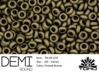 TOHO Demi Round 8o-221F Frosted Bronze - 5 g