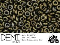 TOHO Demi Round 8o-225 Bronze Antique Gold - 5 g