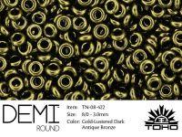 TOHO Demi Round 8o-422 Gold-Lustered Dark Antique Bronze - 5 g