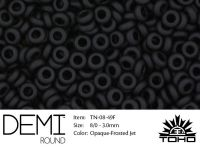 TOHO Demi Round 8o-49F Opaque-Frosted Jet - 5 g
