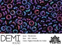 TOHO Demi Round 8o-504 Higher-Metallic Iris Violet - 5 g