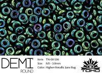 TOHO Demi Round 8o-506 Higher-Metallic June Bug - 5 g