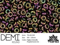 TOHO Demi Round 8o-509 Higher-Metallic Purple-Green Iris - 5 g