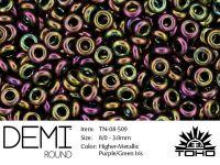 TOHO Demi Round 8o-509 Higher-Metallic Purple-Green Iris - 5 g