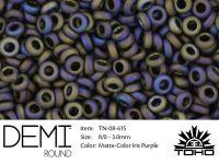 TOHO Demi Round 8o-615 Matte-Color Iris Purple - 5 g