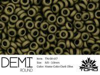 TOHO Demi Round 8o-617 Matte-Color Dark Olive - 5 g