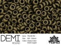TOHO Demi Round 8o-702 Matte-Color Dark Copper - 5 g