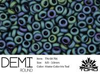 TOHO Demi Round 8o-706 Matte-Color Iris Teal - 5 g