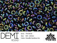 TOHO Demi Round 8o-86 Metallic Rainbow Iris - 5 g
