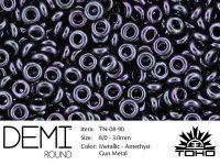 TOHO Demi Round 8o-90 Metallic Amethyst Gun - 5 g