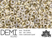 TOHO Demi Round 8o-989 Gold-Lined Crystal - 5 g