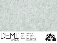 TOHO Demi Round 11o-161F Trans-Rainbow Frosted Crystal - 5 g