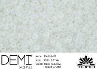 TOHO Demi Round 11o-161F Trans-Rainbow Frosted Crystal - 5 g